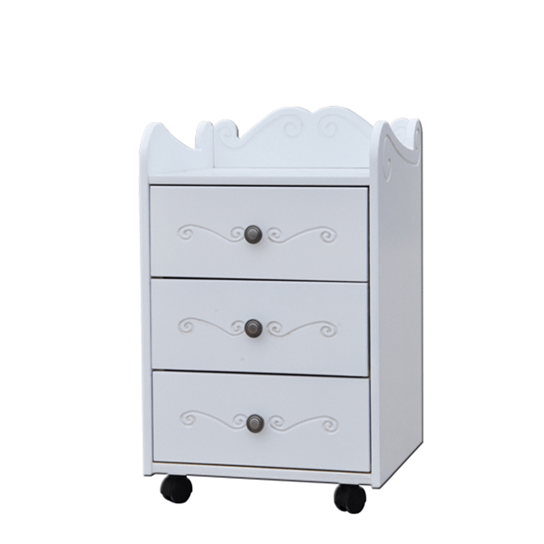 Kids Bedside Table with Wheels 2