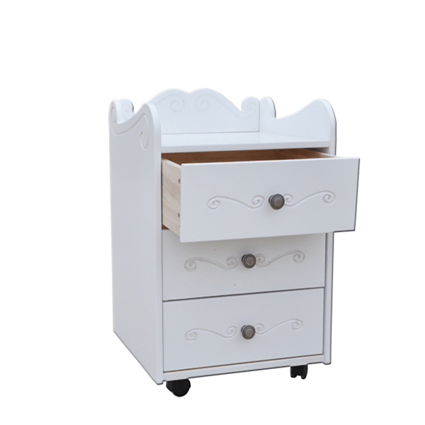 Kids Bedside Table with Wheels 3
