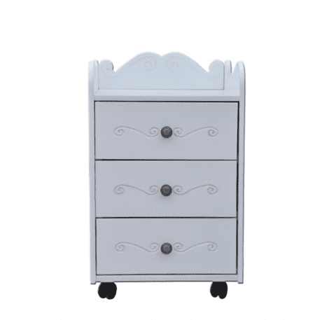 Kids Bedside Table with Wheels