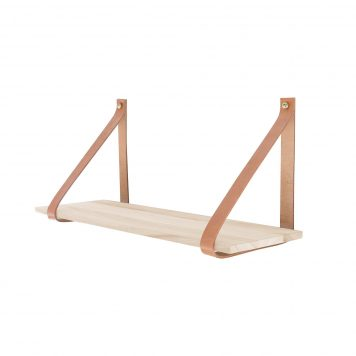 Wall Shelf with Leather Straps - RSHFSO002 - Ronsun