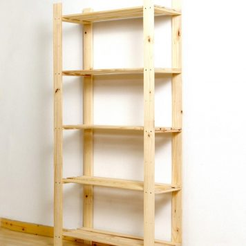 Wood Storage Shelf