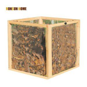 wood mesh compost bin