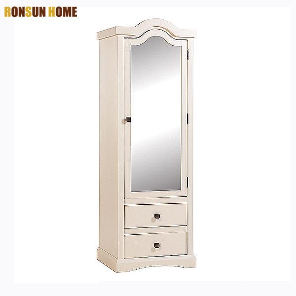 1 Mirrored Door 2 Drawer Wood Almirah Design Wardrobe Ronsun Home And Garden