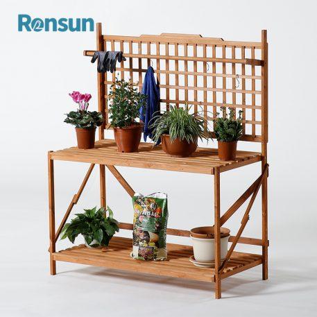 Wooden Flower Display Shelf 1