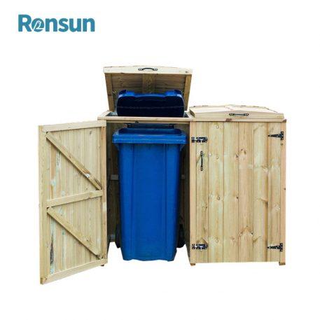 Modern Wood Storage Bins 1