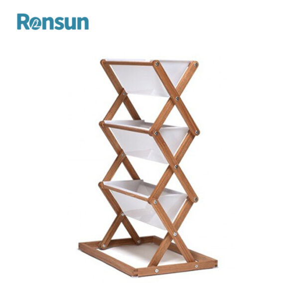 Wooden Foldable Plant Flower Stand