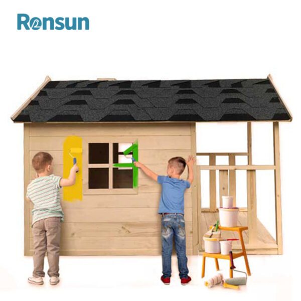Wooden Cubby House for Kids Wood Playhouse 2
