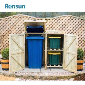 Modern Wood Storage Bins