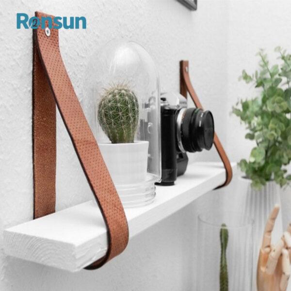 wooden leather belt strap hanging shelf 4