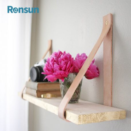 wooden leather belt strap hanging shelf 6