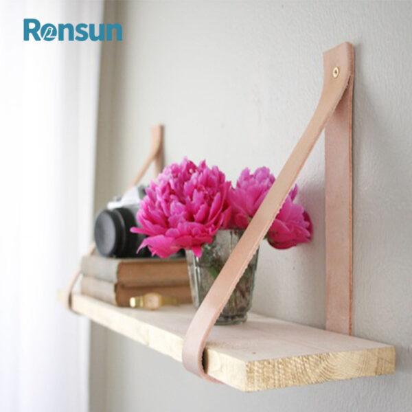 wooden leather belt strap hanging shelf 6